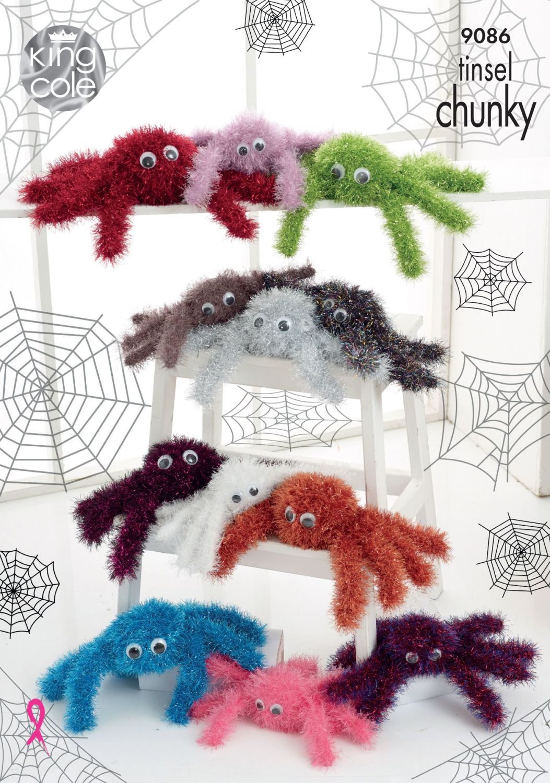 Tinsel Spider Knitting Pattern