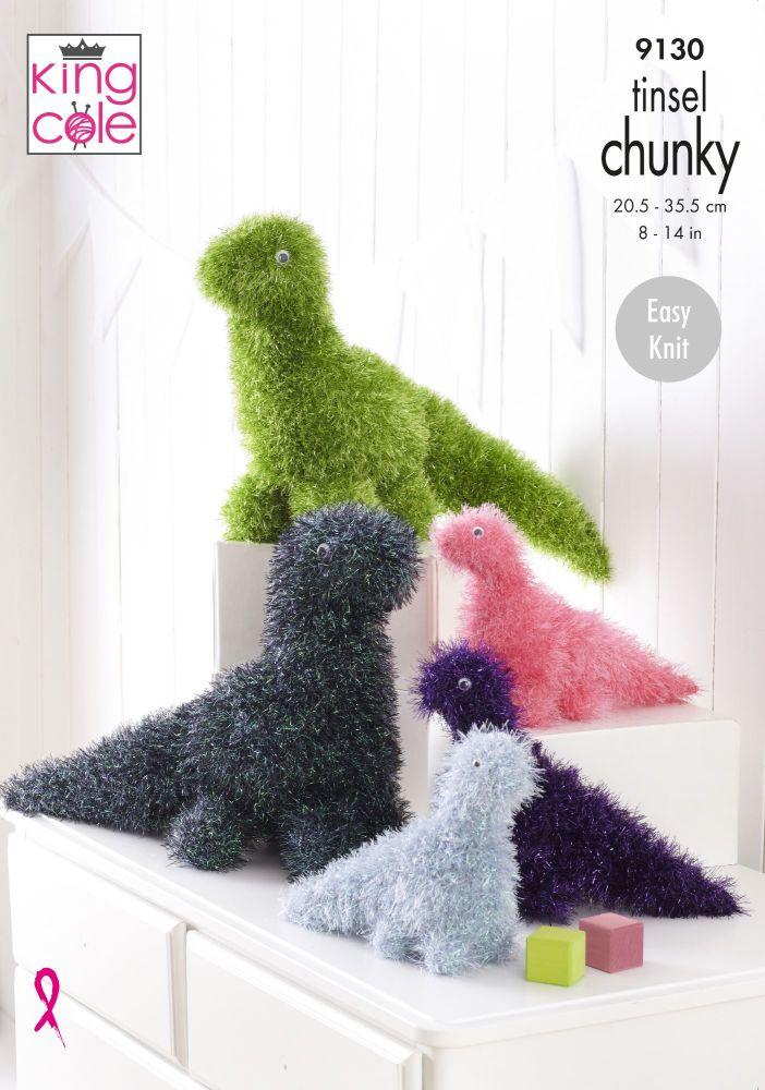 Dinosaurs in Tinsel Knitting Pattern