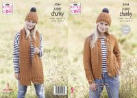 Cardigan, Scarf & Hat Knitting Pattern
