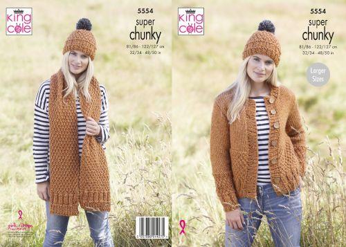 Cardigan, Scarf & Hat Knitting Pattern