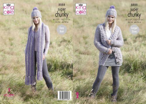 Garter Stitch Cardigan, Scarf & Hat Knitting Pattern