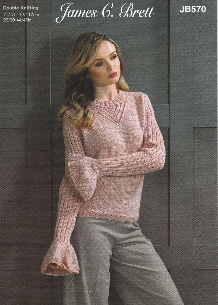 Bell Sleeve Sweater Knitting Pattern