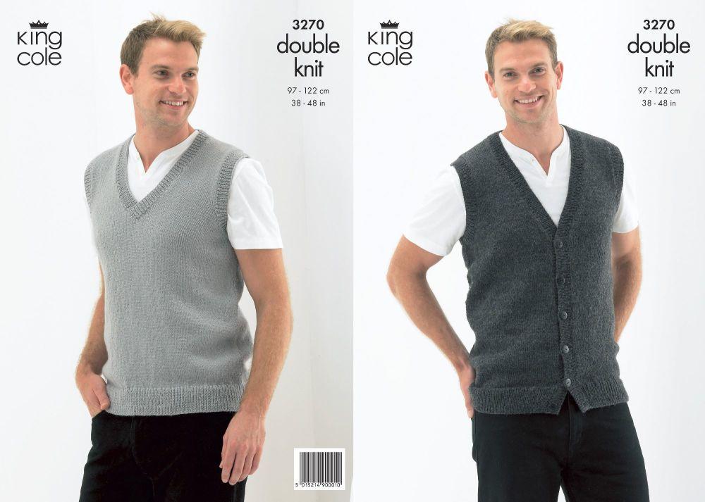 Slipover & Waistcoat Knitting Pattern
