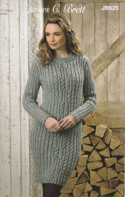 Aran Sweater/Dress Knitting Pattern