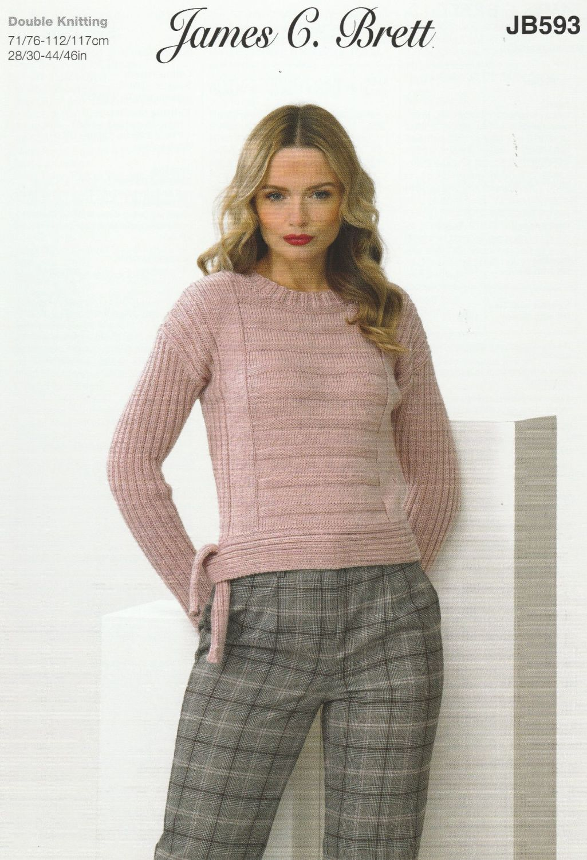 Tie & Non Tie Sweater Knitting Pattern