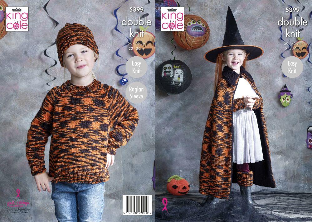 Halloween Cape, Sweater, Hat, Wrist Warmers & Leg Warmers