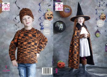 Halloween Cape, Sweater, Hat, Wrist Warmers & Leg Warmers