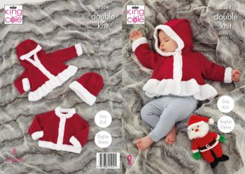 Christmas Jackets & Hat Knitting Pattern