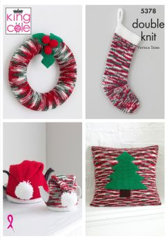 Christmas Glitz Accessories Knitting Pattern