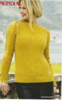 Yellow Ochre Pullover Knitting Pattern