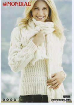 Cream Pullover & Scarf Knitting Pattern