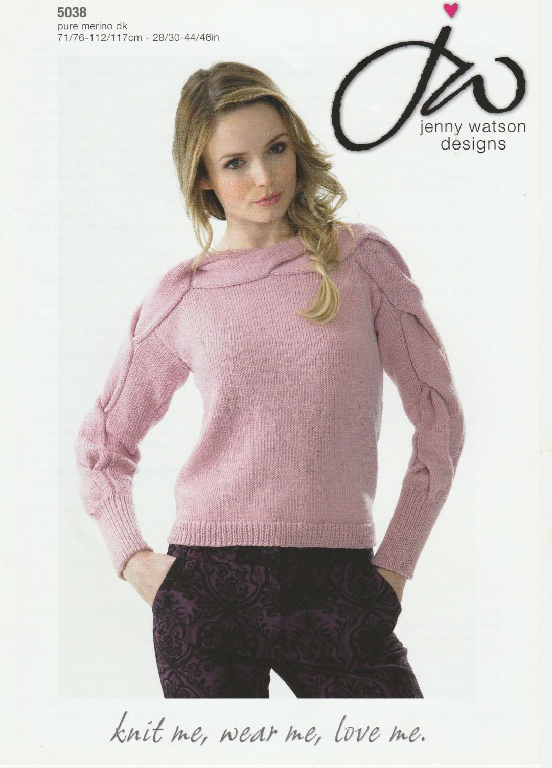 Sweater with Cable Detail Knitting Pattern