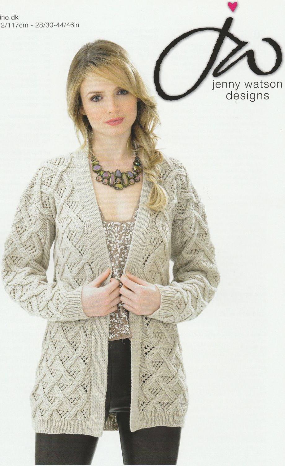 Cable Jacket Knitting Pattern