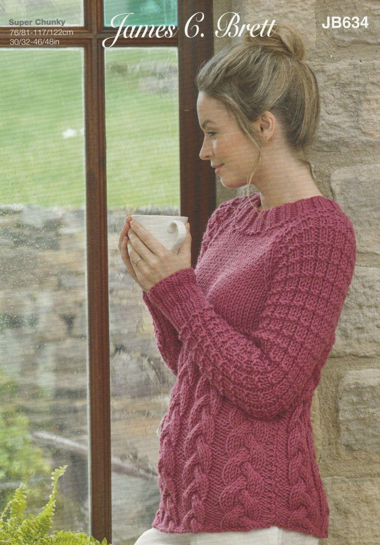 Super Chunky Sweater Knitting Pattern