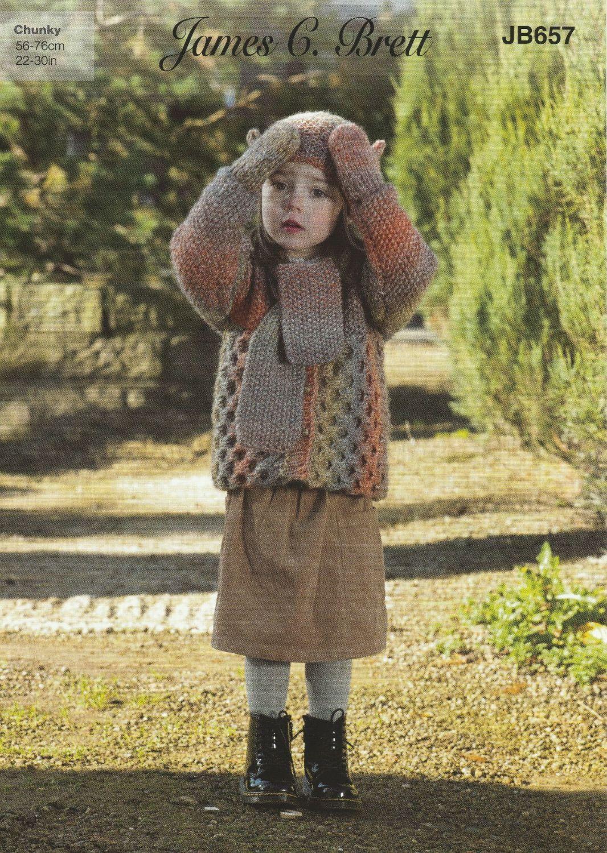 Jacket, Scarf, Hat & Mittens Knitting Pattern