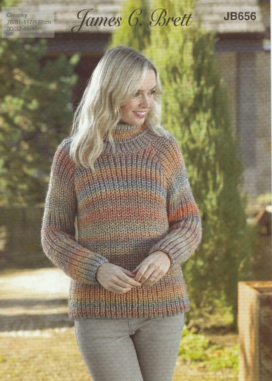 Ribbed Sweaters Knitting Pattern