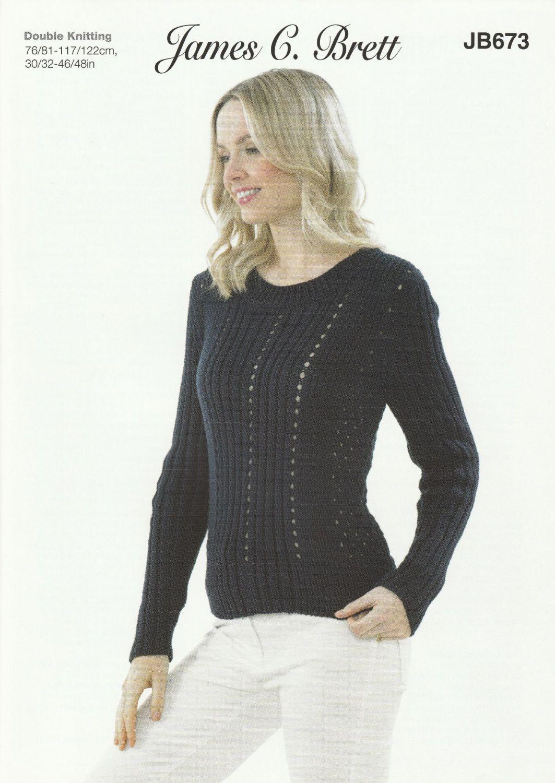 Rib DK Sweater Knitting Pattern