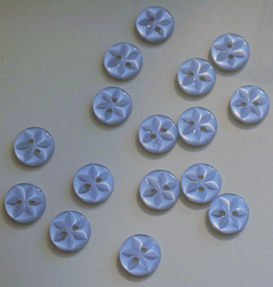 11.5mm Blue Star Buttons