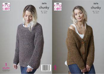 Chunky Cardigan & Sweater  Knitting Pattern