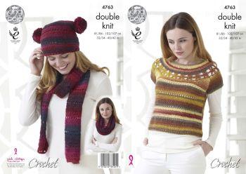 Top with Yoke & Accesssories Crochet Pattern
