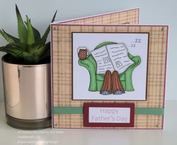 Just Snoozing Handmade Card