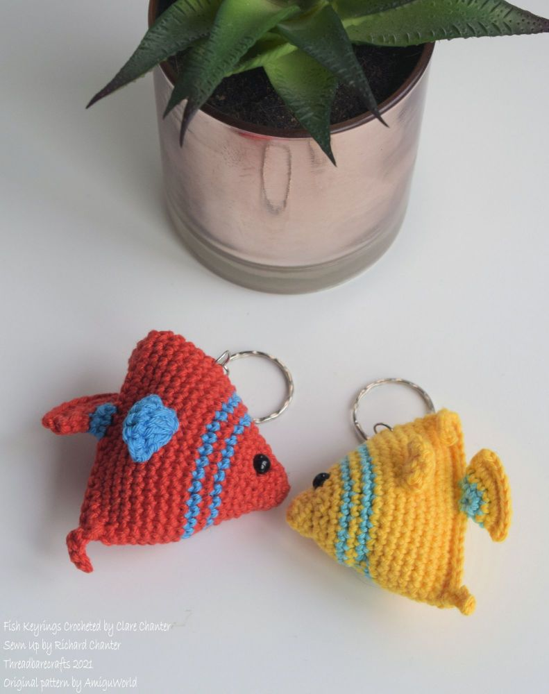 Crocheted Fish Keyring