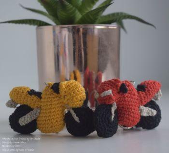 Crocheted Motorbike Keyring