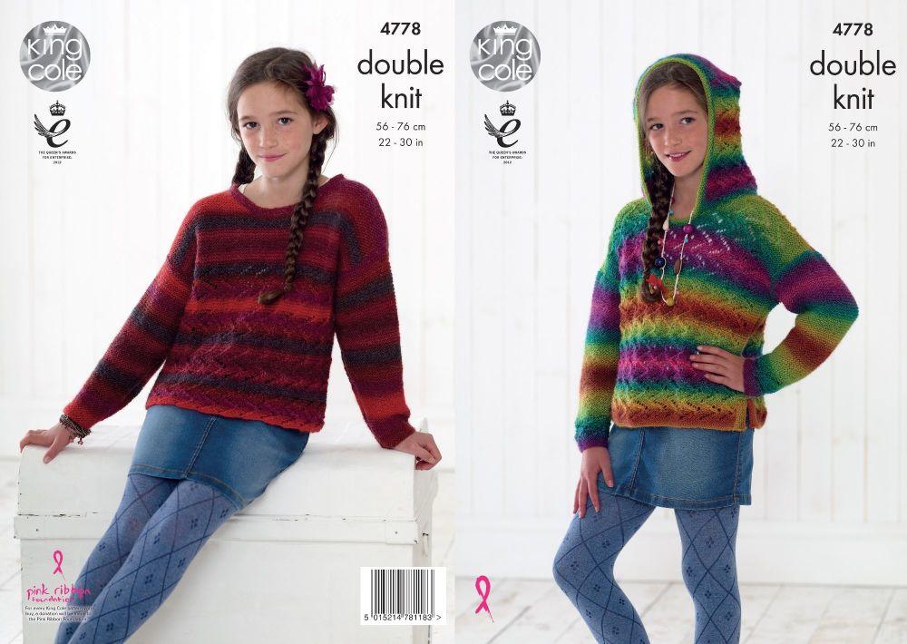 Kid's Hoodie & Sweater Knitting Pattern - King Cole