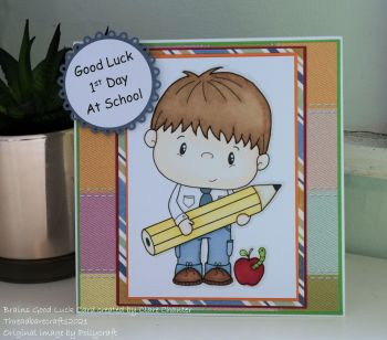 1st Day of School Good Luck Card