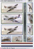 Fighter Aircraft Diecut Topper Sheet