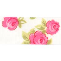 Rose Print Grosgrain Ribbon