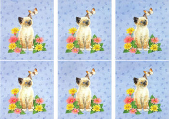 Cat with Butterfly Classic Decoupage Sheet