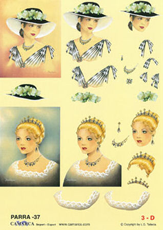 Elegant Ladies #2 SBS Decoupage Sheet