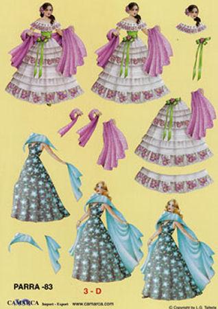 Elegant Ladies SBS Decoupage Sheet