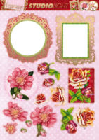 Frames & Flowers Diecut Topper Sheet