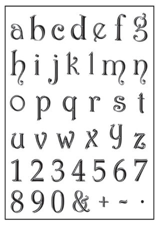 Lower Case Alphabet & Numbers Clear Stamp Set