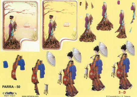 Oriental Ladies SBS Decoupage Sheet