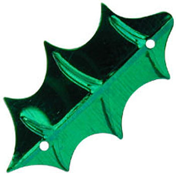Pinflair Green Holly Shaped Sequins