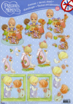 Precious Moments #24 Diecut Decoupage Sheet