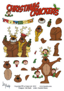 Reindeer Party SBS Decoupage Sheet