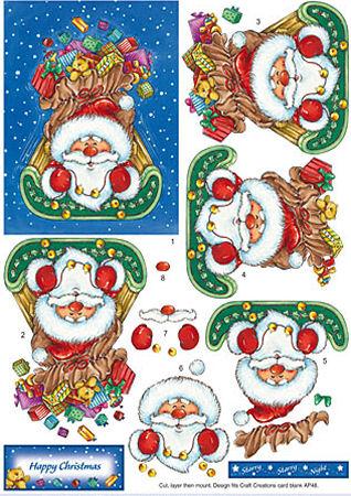 Santa, Toys & Sleigh SBS Decoupage Sheet