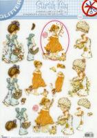 Sarah Kay #96 Diecut Decoupage Sheet