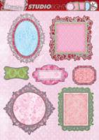 Silver Frames Diecut Topper Sheet