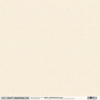 Small White Dots on Cream Scrapbooking Paper