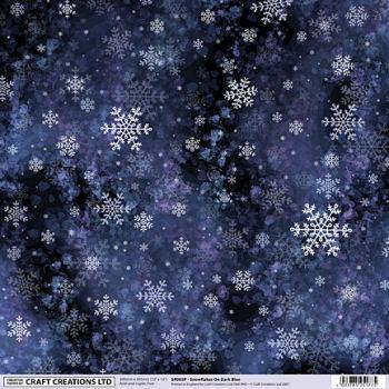 Snowflakes Scrapbooking Paper
