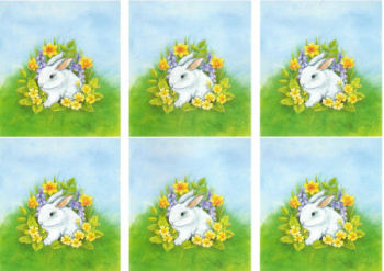 Spring Rabbit Classic Decoupage Sheet