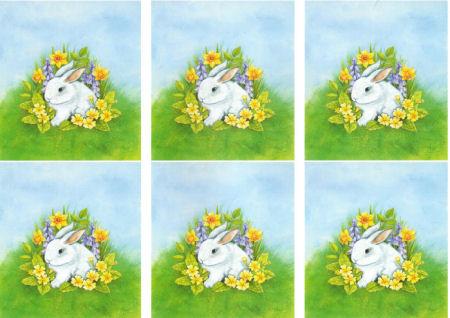 Spring Rabbit Classic Decoupage Sheet