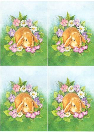 Summer Rabbit Classic Decoupage Sheet