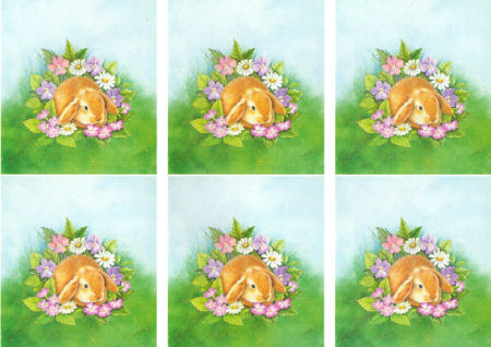 Summer Rabbit Classic Decoupage Sheet