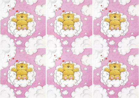 Teddy in Clouds Classic Decoupage Sheet